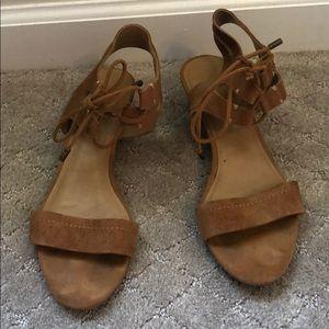 EUC Franco Sarto lace up sandals